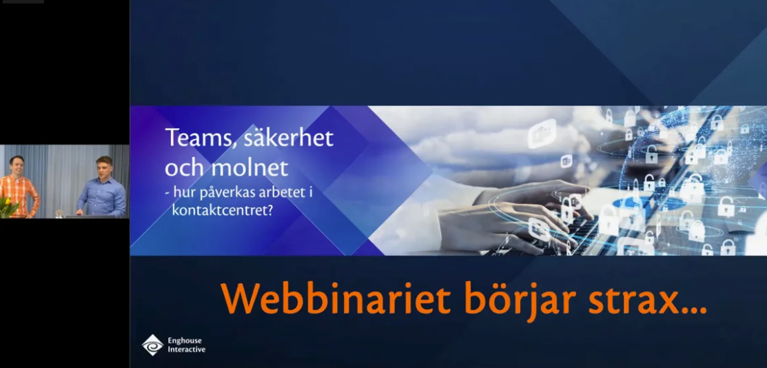 Webinar Teams, säkerhet och molnet