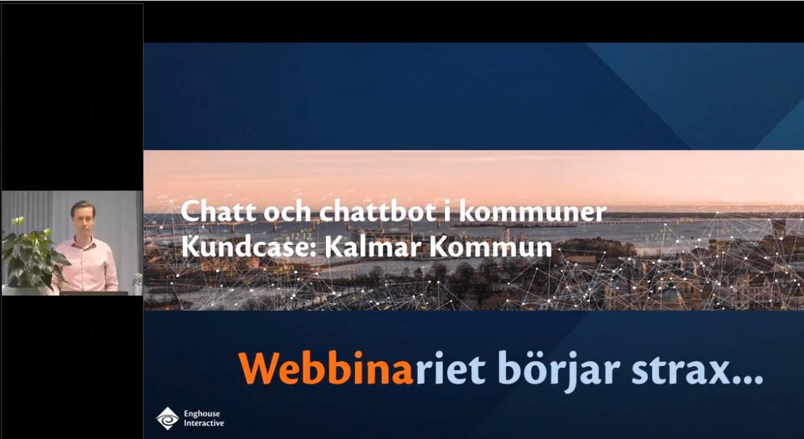 Inspelning webbinarie Chatt och chattbot i kommuner